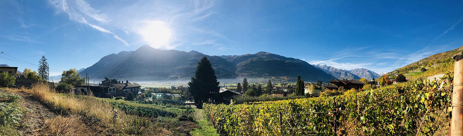 Panorama della Valle d'Aosta